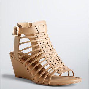 Torrid Mini Wedge Cage Sandals 11 Wide